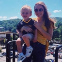 Karah Smith, a senior communication, public relations major from Winston-Salem, holds her son, Emerson, who wears Appalachian's black and gold. Emerson is one of nearly 70 children served by Appalachian's Child Development Center in fall 2019. Photo submitted